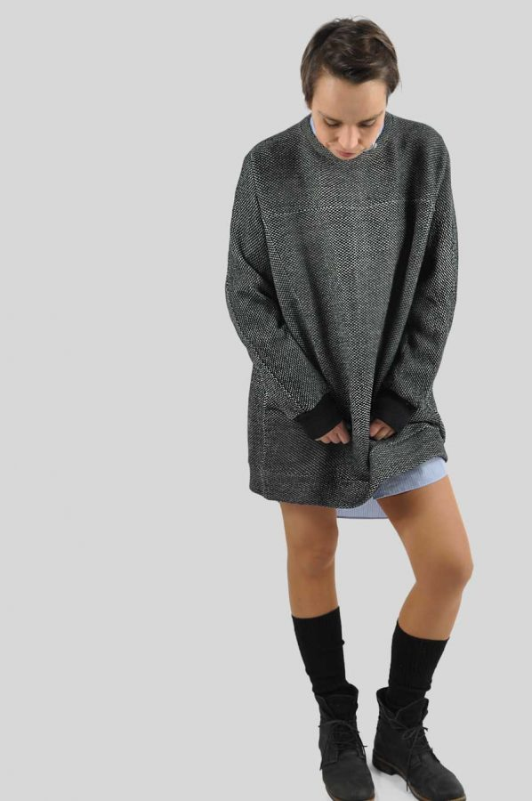 Big-Pullover-als-Kleid-tragen